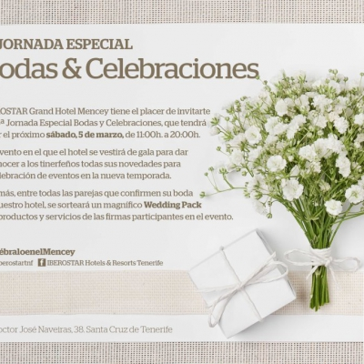 5ª Jornada especial Bodas y Celebraciones en el IBEROSTAR Gran Hotel Mencey